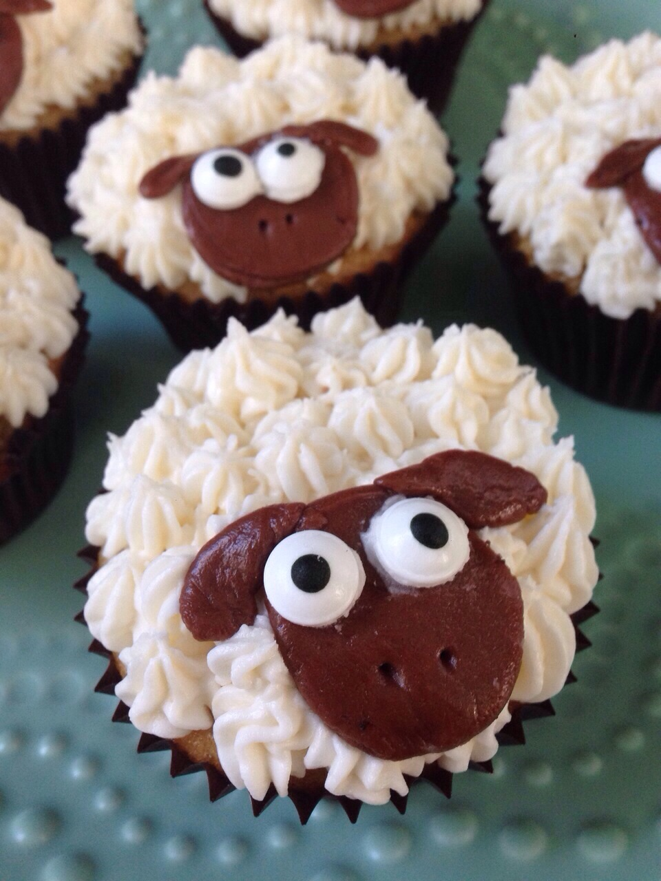 Step By Step Sheep Cupcakes Honey And Dates